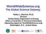 worldwidescience org the global science gateway