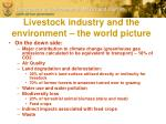 livestock industry and the environment the world picture