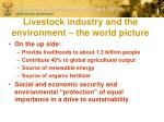 livestock industry and the environment the world picture1