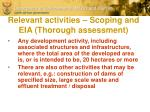 relevant activities scoping and eia thorough assessment1