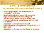 safa path towards an environmentally responsible industry1