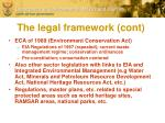 the legal framework cont