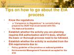 tips on how to go about the eia process