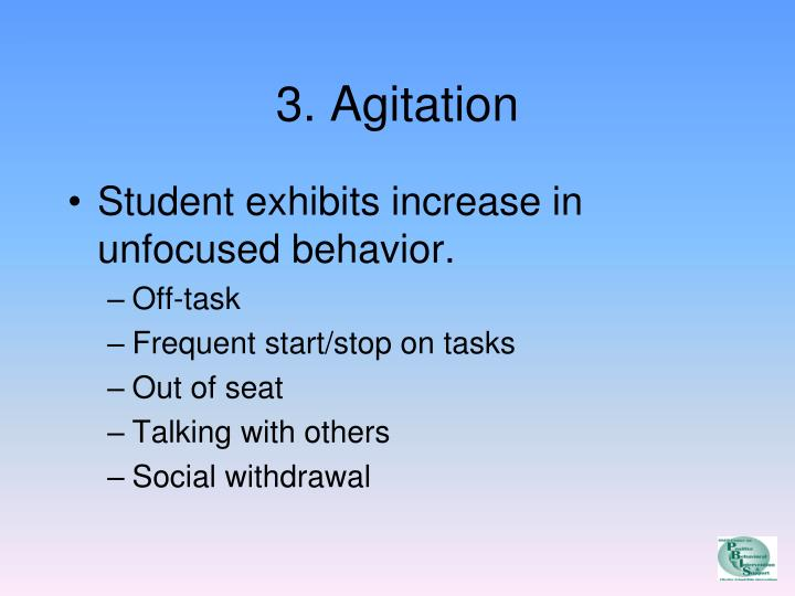 3. Agitation