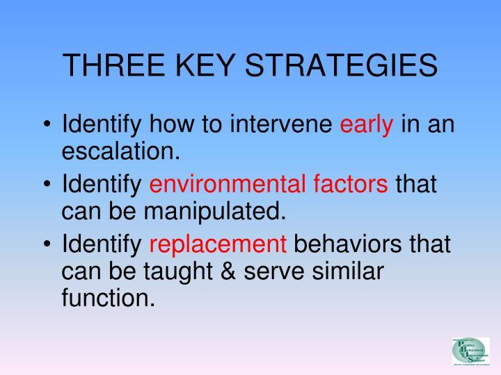 THREE KEY STRATEGIES