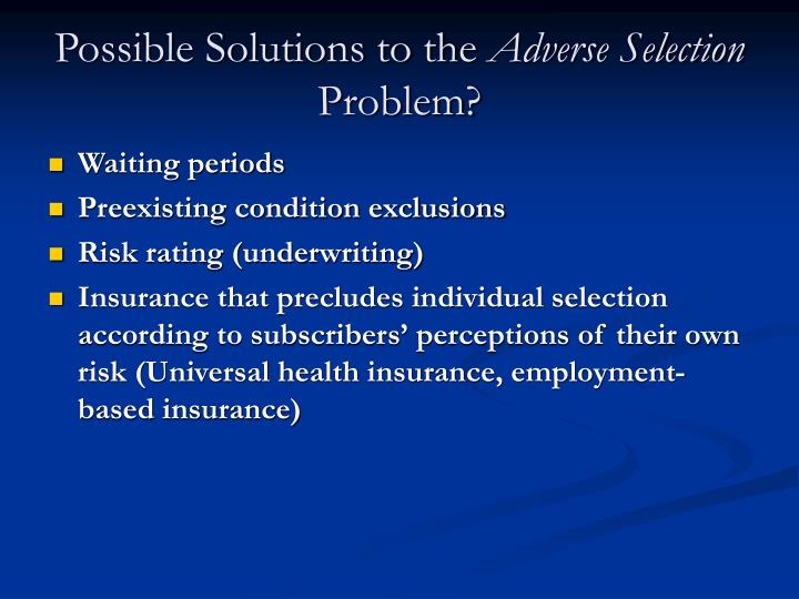 Possible Solutions to the