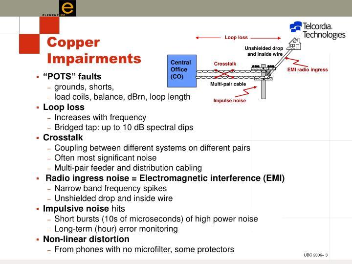 Copper impairments