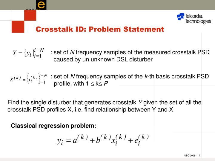 Crosstalk ID: Problem Statement