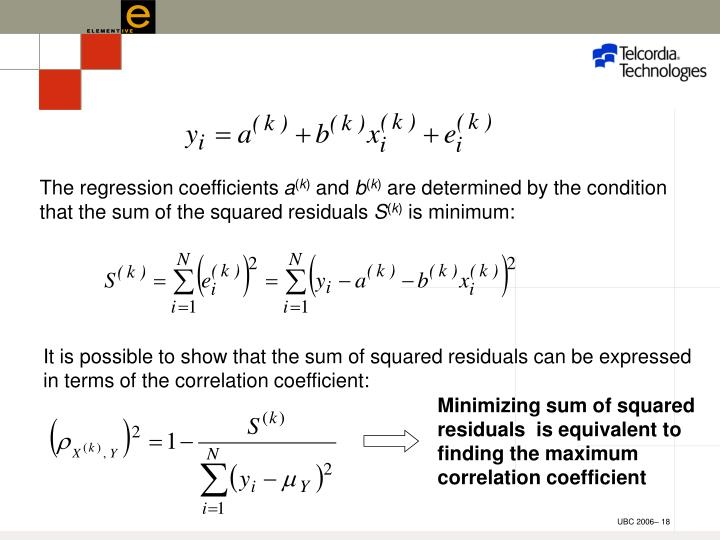 The regression coefficients