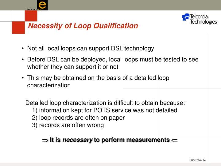 Necessity of Loop Qualification
