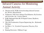 infrared cameras for monitoring animal activity