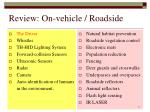 review on vehicle roadside