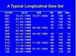 a typical longitudinal data set