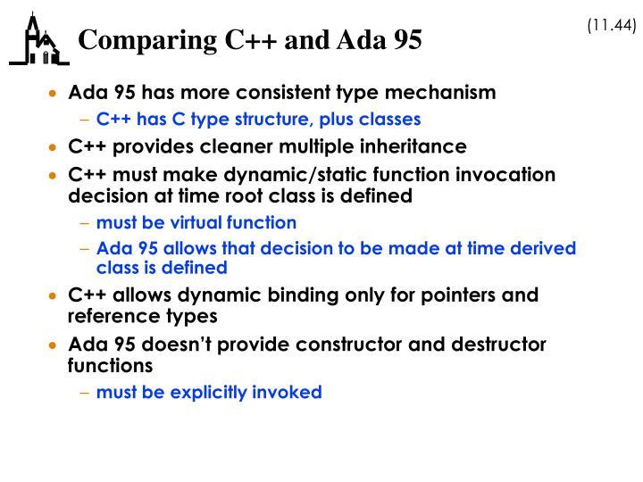 Comparing C++ and Ada 95
