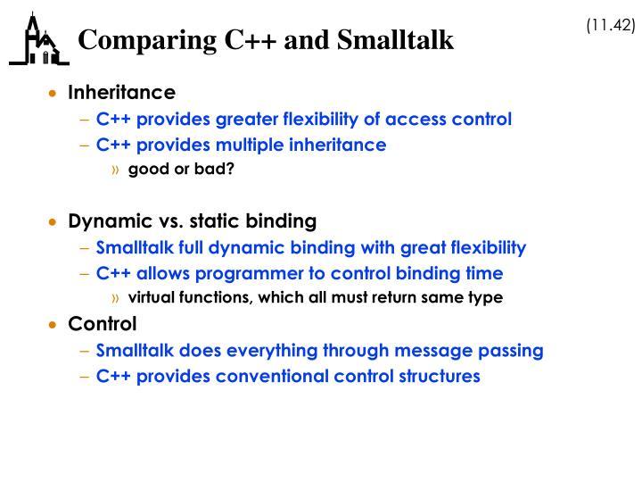 Comparing C++ and Smalltalk