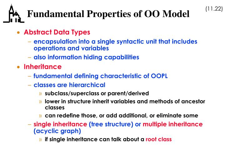 Fundamental Properties of OO Model