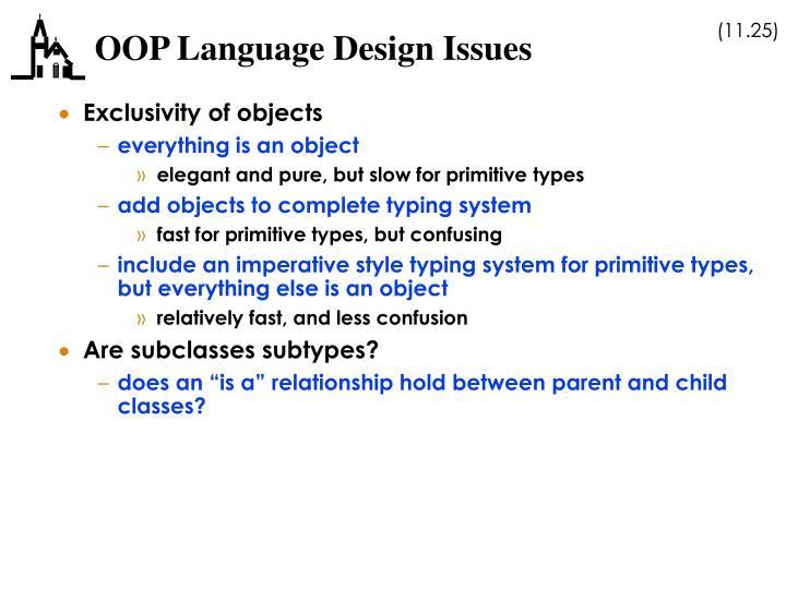 OOP Language Design Issues