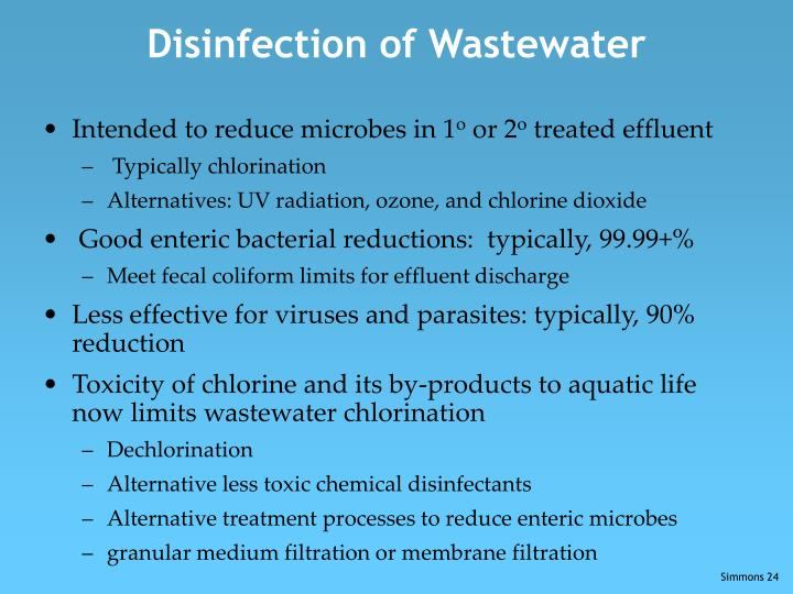 Disinfection of Wastewater