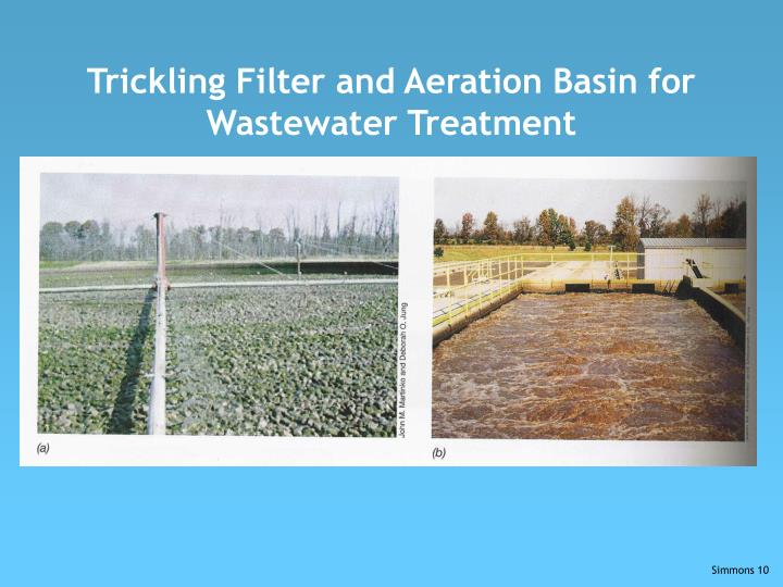 Trickling Filter and Aeration Basin for Wastewater Treatment