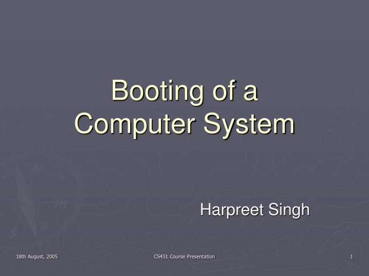 booting of a computer system n.