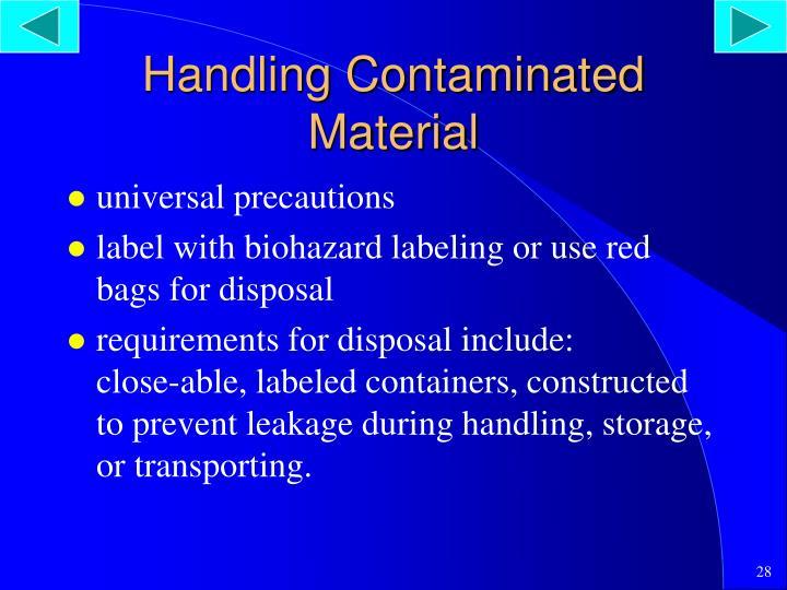 Handling Contaminated Material
