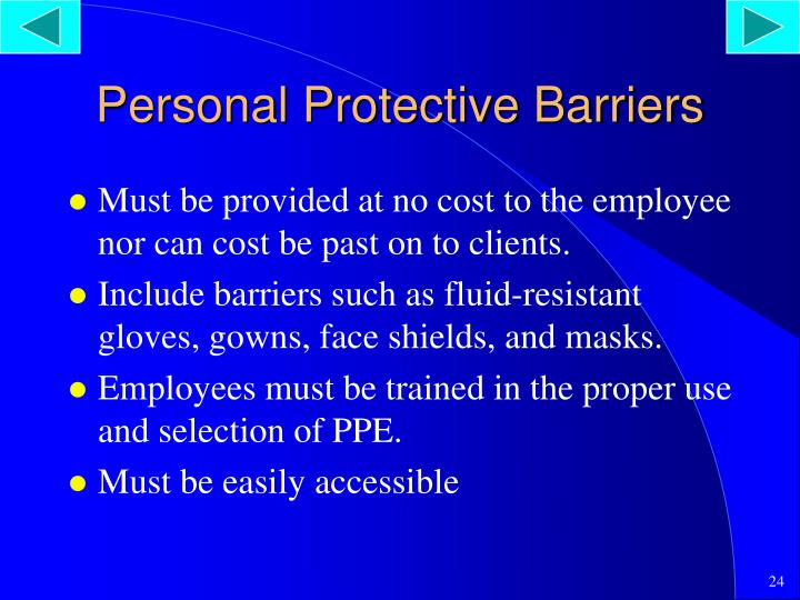 Personal Protective Barriers