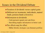 issues in the dividend debate