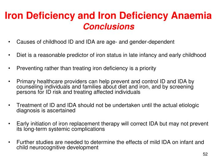 Iron Deficiency and Iron Deficiency Anaemia