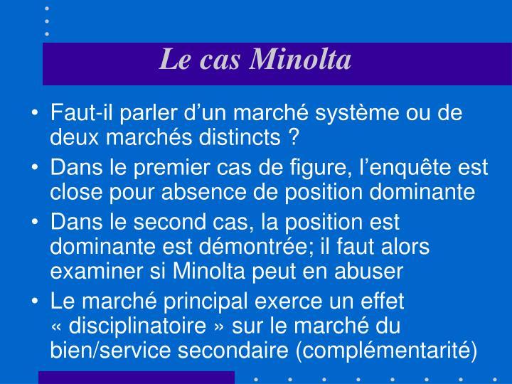 Le cas Minolta