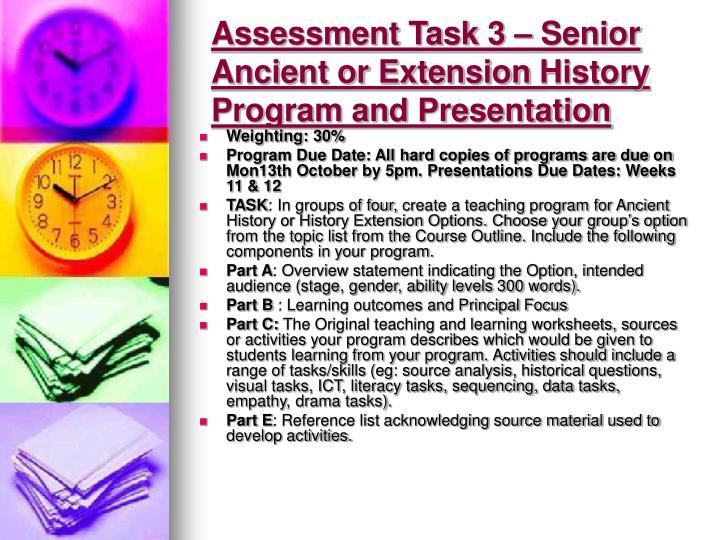 Assessment Task 3 –
