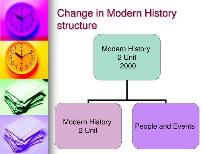Change in Modern History structure