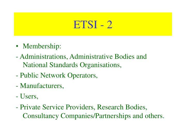 ETSI - 2