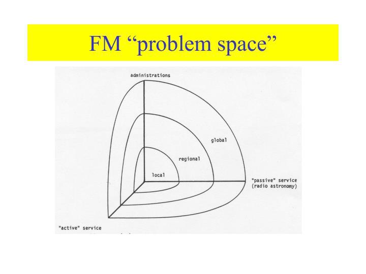 Fm problem space