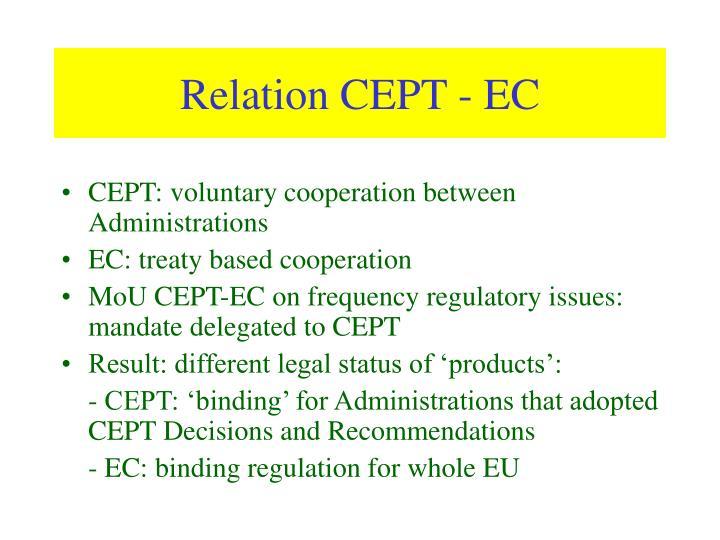 Relation CEPT - EC