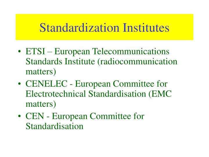 Standardization Institutes