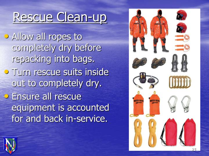 Rescue Clean-up