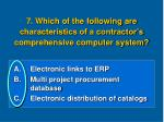 7 which of the following are characteristics of a contractor s comprehensive computer system1