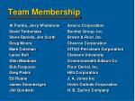 team membership