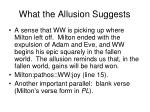 what the allusion suggests