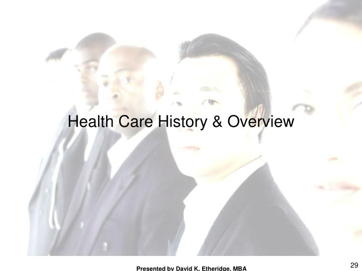 Health Care History & Overview