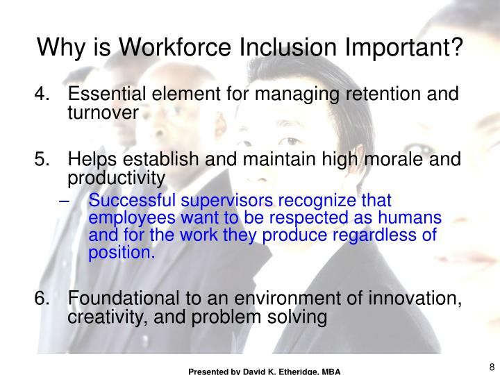 Essential element for managing retention and turnover