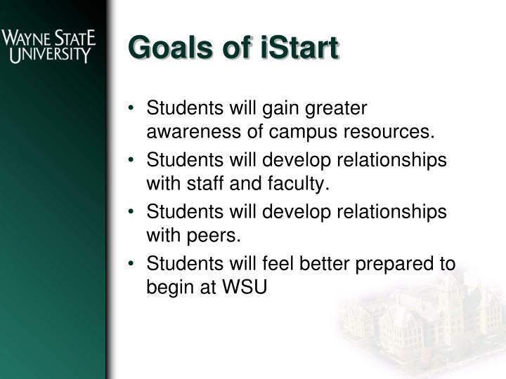 Goals of istart