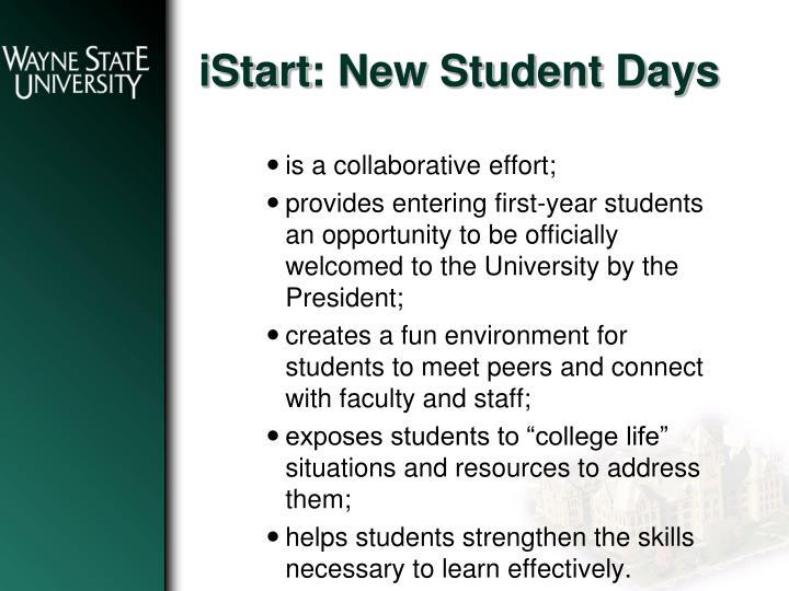 Istart new student days1