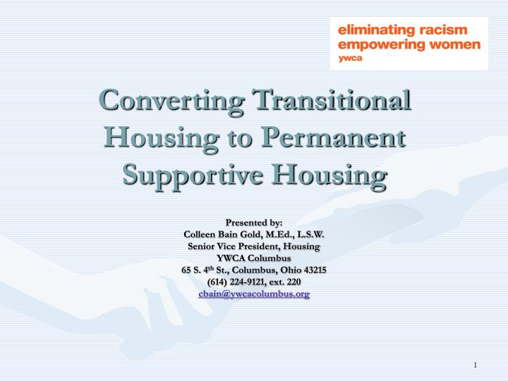 converting transitional housing to permanent supportive housing n.