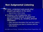 non judgmental listening1
