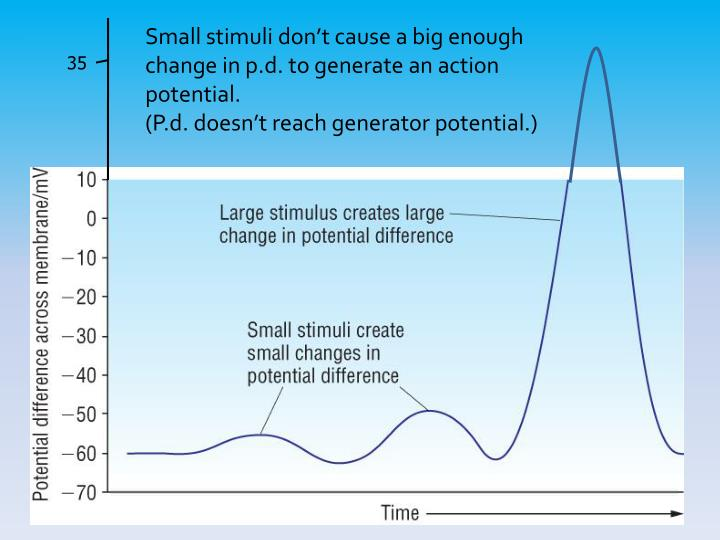 Small stimuli don't cause a big enough change in