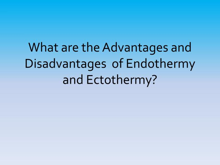 What are the Advantages and Disadvantages  of