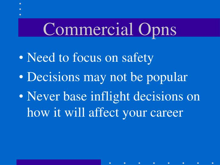 Commercial opns