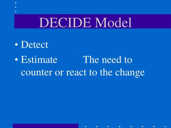DECIDE Model