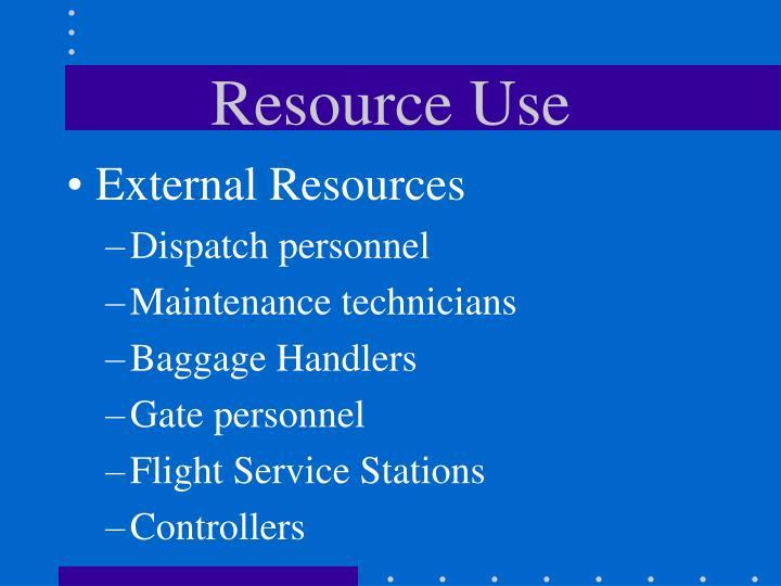 Resource Use
